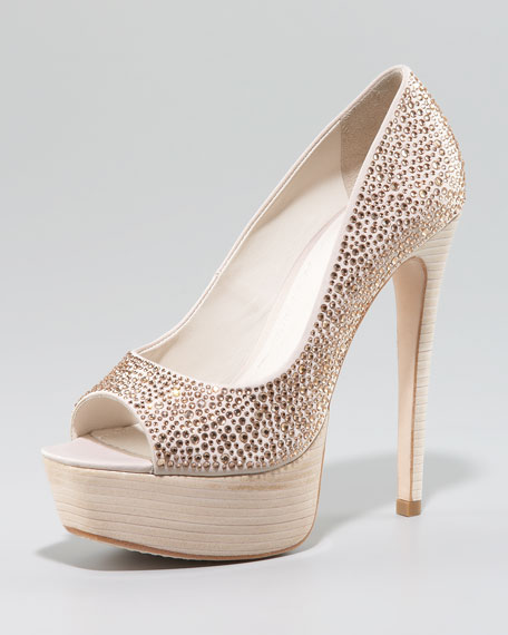 Crystallized Satin Pump