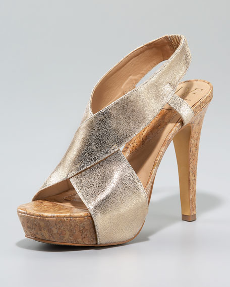 Zia Metallic Cork Sandal