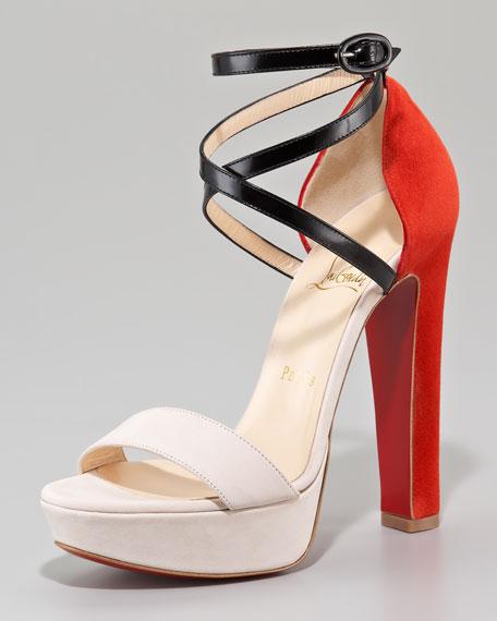 Summerissima Crisscross Platform Sandal