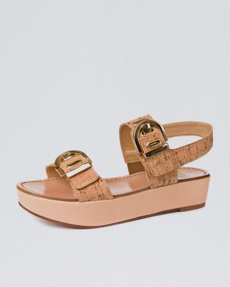 Cork-Strap Wedge Sandal
