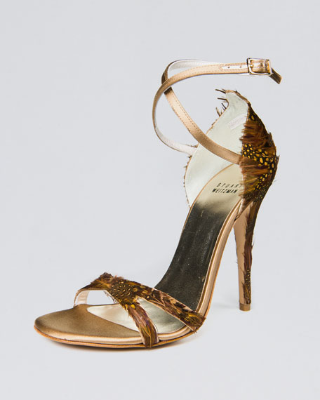 Satin Feather Sandal