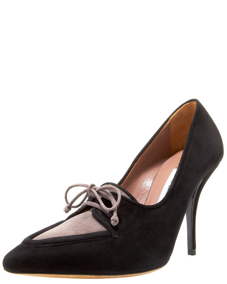 Tabitha Simmons Suede Lace-Up Pump
