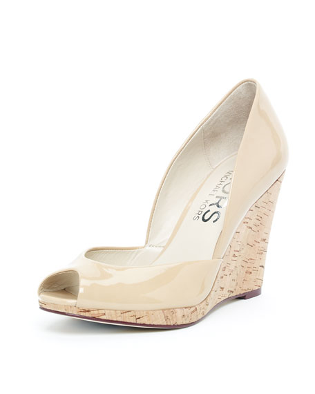 Vail Patent Wedge, Nude or Cinnabar