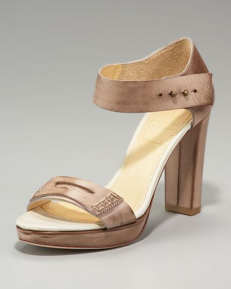 High-Heel Loafer Sandal