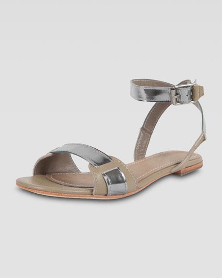 Two-Tone Flat Sandal
