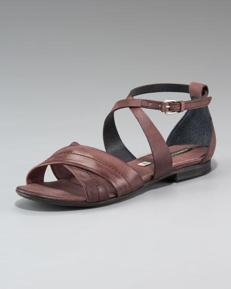 Crisscross Flat Sandal