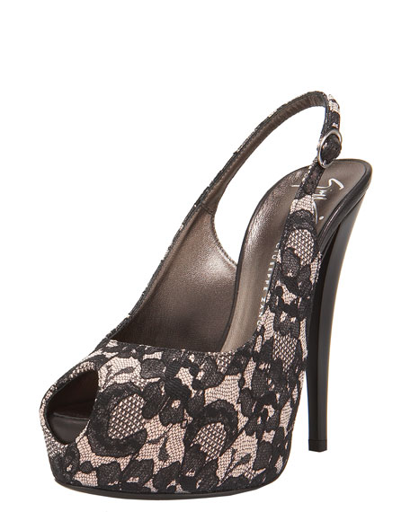 Lace Slingback Pump