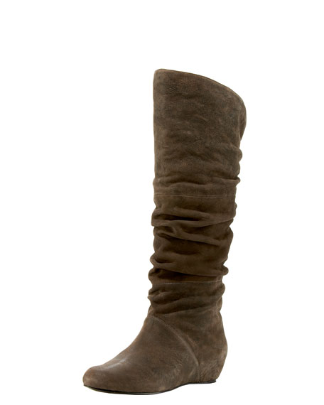 Ruched Knee Boot