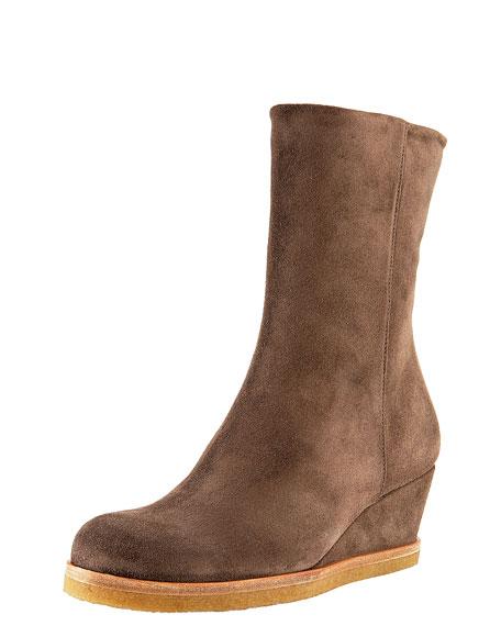 Mid-Heel Wedge Boot