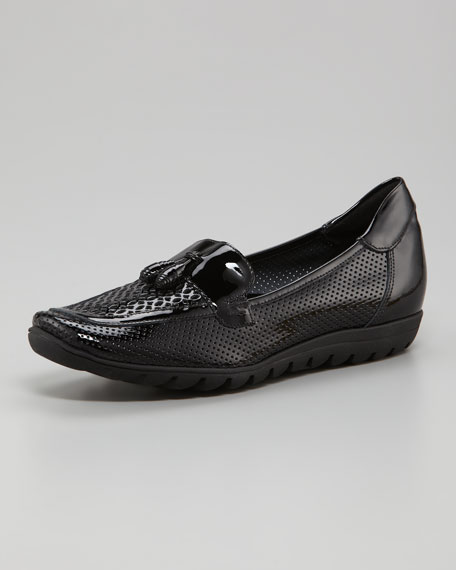 Perforated Patent Loafer
