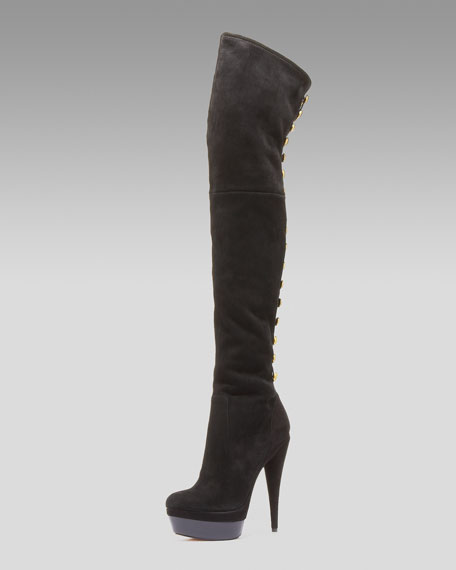 Brigitte Over-the-Knee Suede Boots