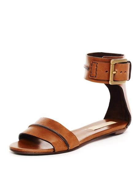 Halter Ankle Flat Sandal