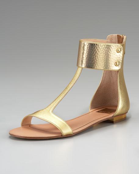 Bagley Ankle-Wrap Flat Sandal