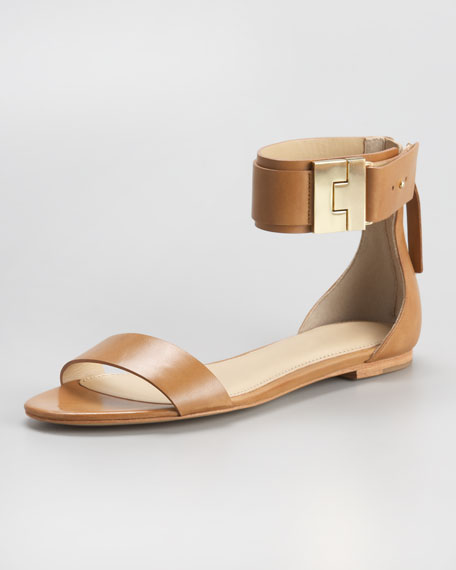 Ankle-Strap Flat Sandal