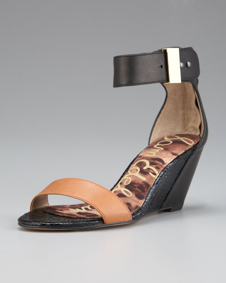 Sophie Two-Tone Wedge Sandal
