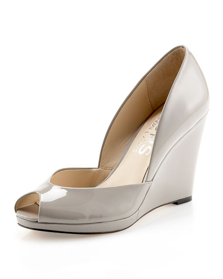 Vail Patent Leather d'Orsay Wedge