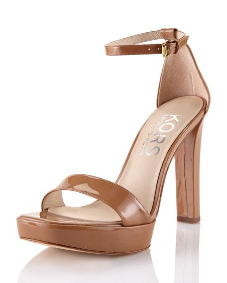 Patent Leather Platform Sandal
