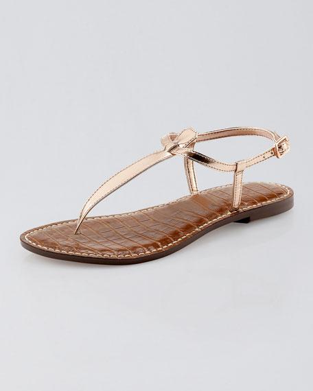 Gigi Metallic Thong Sandal