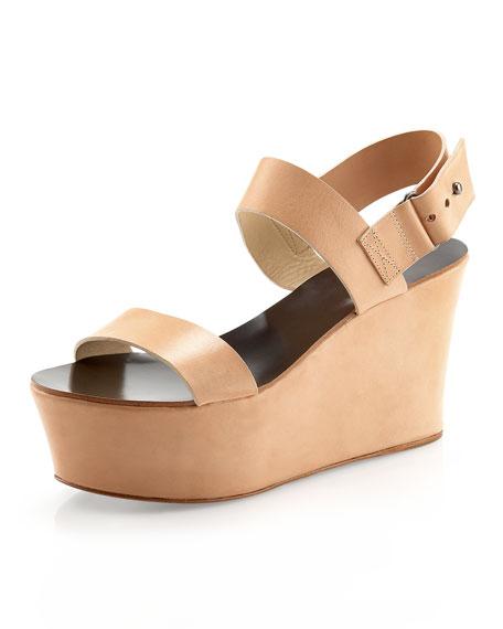 Taryn Double-Strap Wedge Sandal