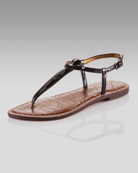 Gigi Patent Thong Sandal