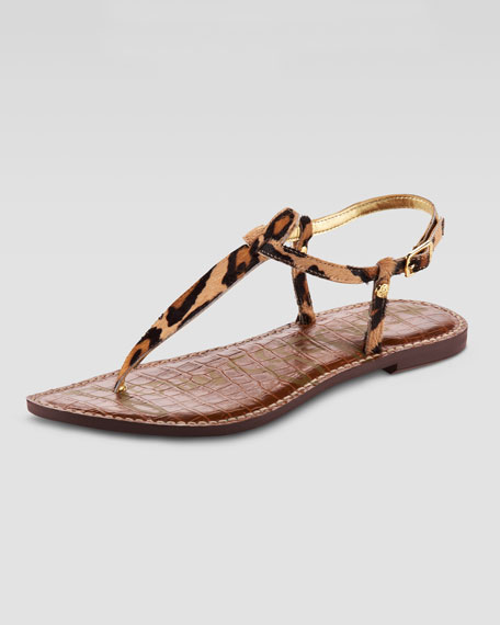Gigi Leopard-Print Thong Sandal (CUSP Most Loved!)