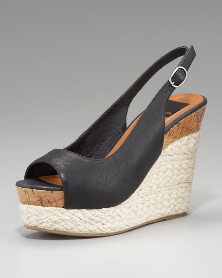 Joss Open-Toe Slingback Wedge