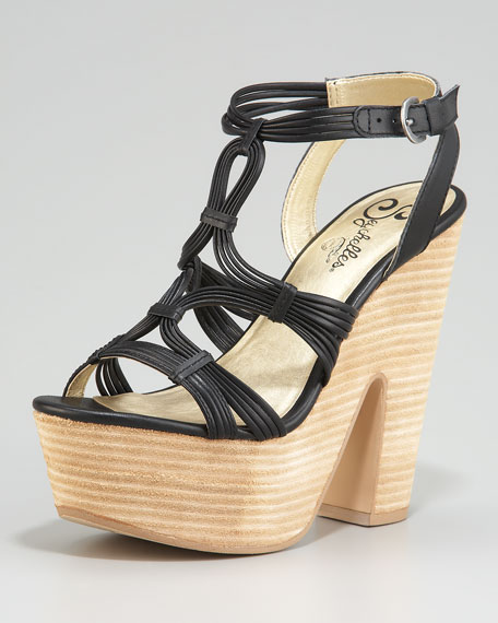 Heat of the Moment Platform Sandal, Black
