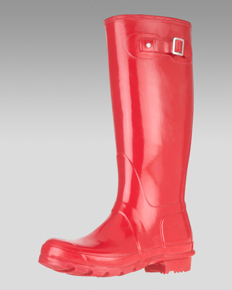 Tall Gloss Boot, Red