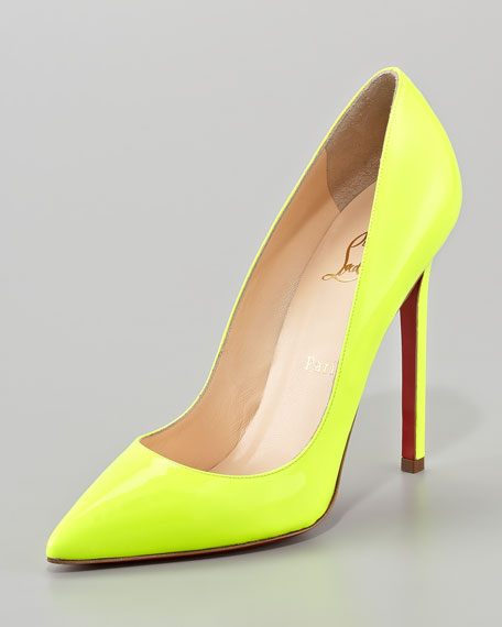 Pigalle Neon Red Sole Pump
