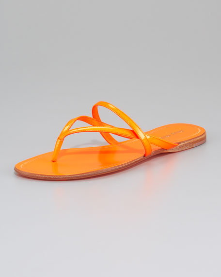 Strappy Fluorescent Thong Sandal