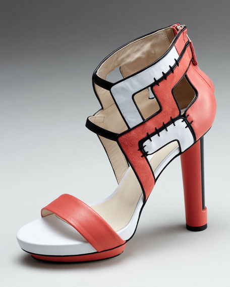 Stitched Colorblock Sandal