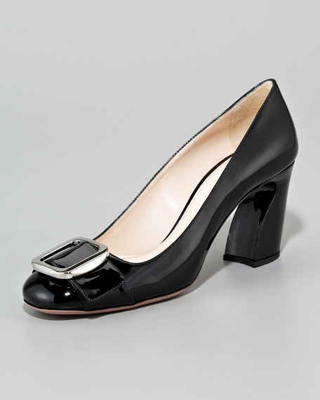 Patent Leather Buckle Pump