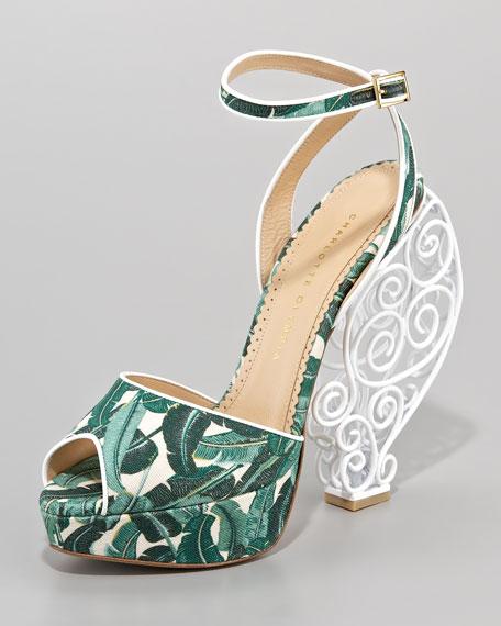 Wire-Heel Platform Sandal