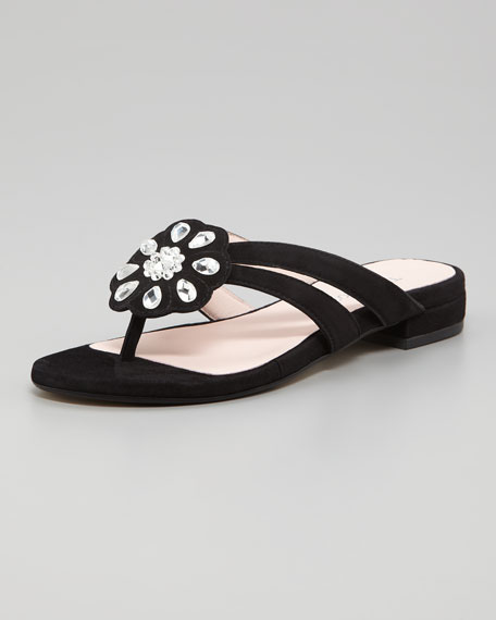Jeweled Thong Sandal