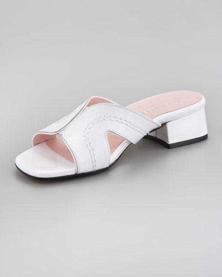 Low-Heel Cutout Sandal