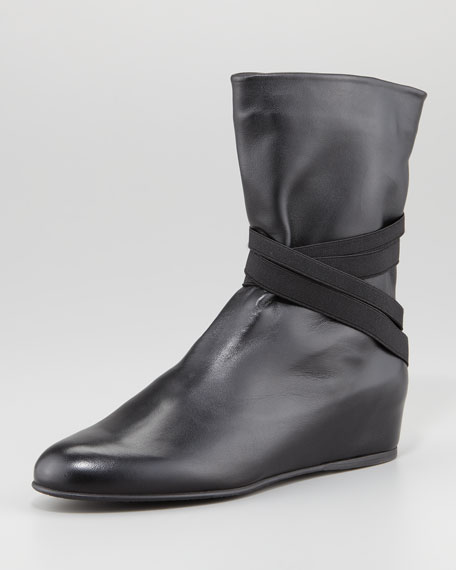Zen Elastic-Strap Boot, Black