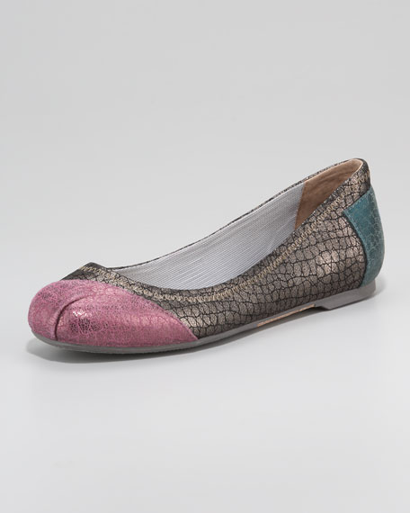 Ruxton Snake-Print Ballerina Flat