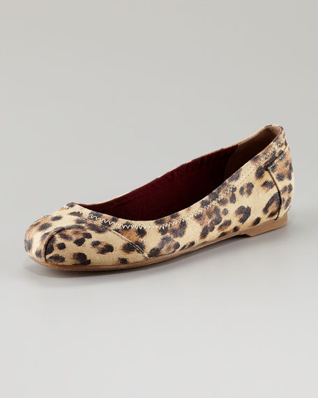 Sanborn Leopard-Print Ballerina Flat