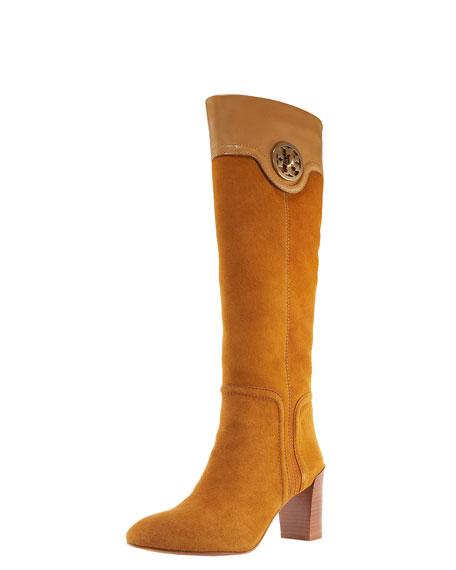 Selma Mid-Heel Logo Boot