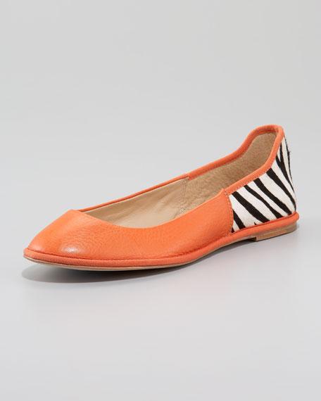 Botswana Foldable Ballerina Flat, Orange