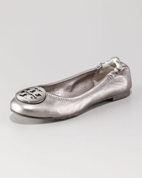 Reva Metallic Leather Ballerina