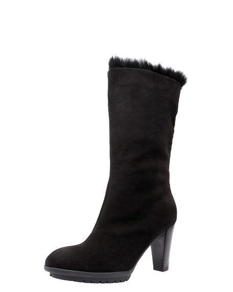 Weatherproof Fur-Cuff Boot
