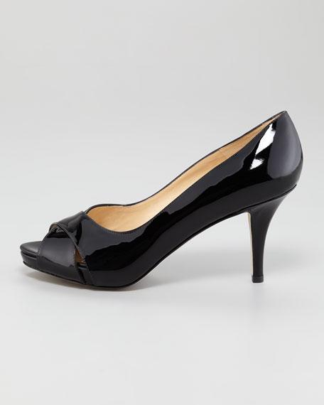 billie patent leather peep-toe pump