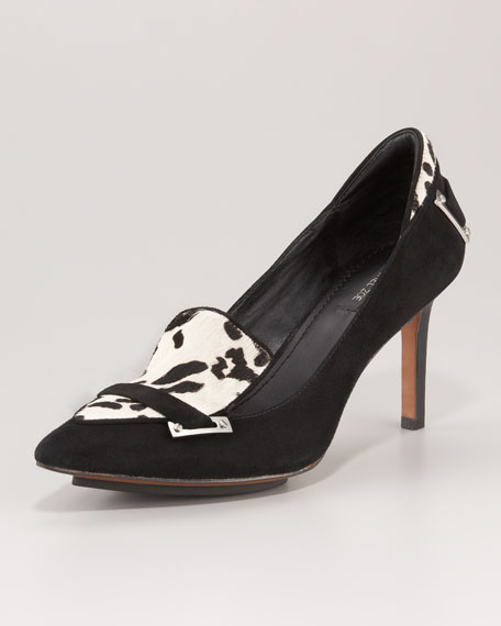 Carrie Calf Hair & Suede Pump