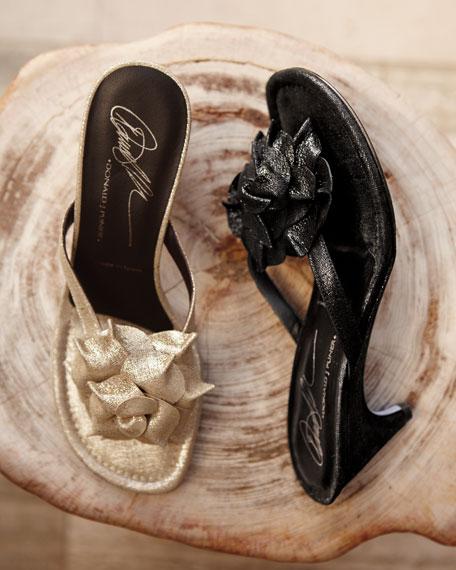 Floral Shimmer Sandal