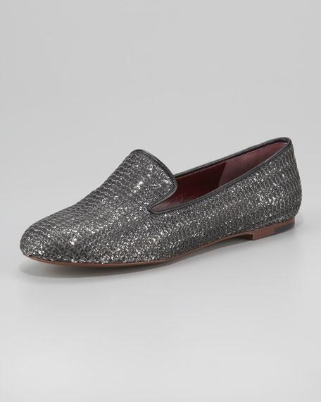 Brushed Sequin Slip-On Loafer