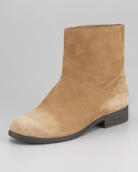 Soft Suede Slip-On Ankle Boot