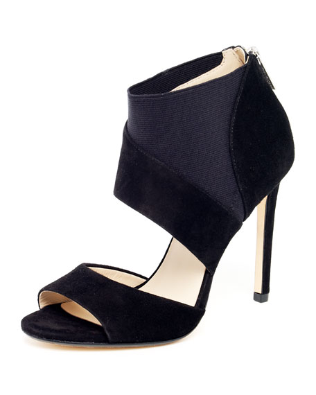 Ainsley Suede Ankle Pump, Black