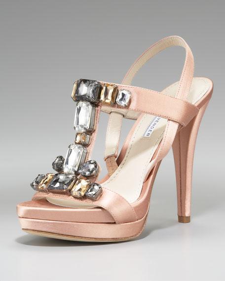 Shannon Jeweled Satin Sandal