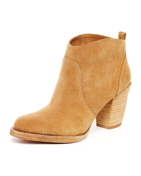 Wayland Short Suede Boot, Dark Sand